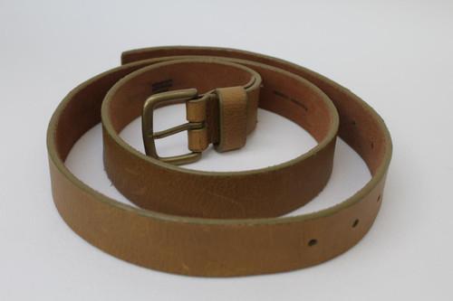 "MARC JACOBS Ladies Khaki Brown Leather Textured Medium Width Belt 32-40"" NEW"