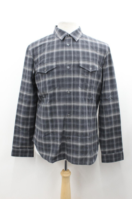MAISON MARTIN MARGIELA Men's Grey Checked Long Sleeve Slim Fit Shirt 42 NWOT