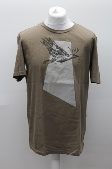MAISON MARTIN MARGIELA Men's Brown Cotton Slim Short Sleeve T-Shirt UK42 Large