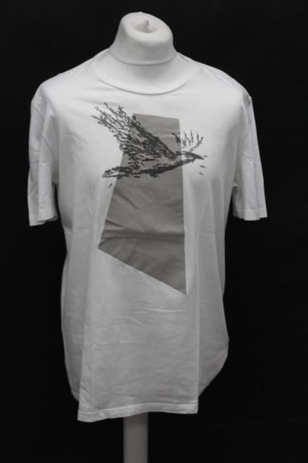MAISON MARTIN MARGIELA Men's White Cotton Slim Short Sleeve T-Shirt UK42 Large