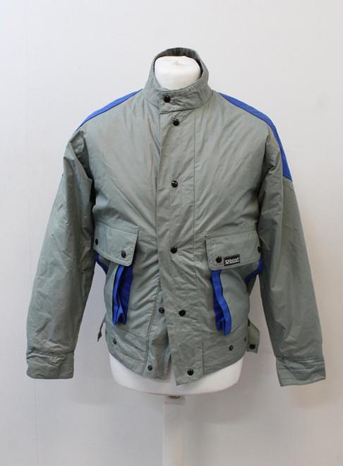 BELSTAFF Men's Sage Green Blue Zip Snap Fastened Motorcycle Jacket S EU44-46