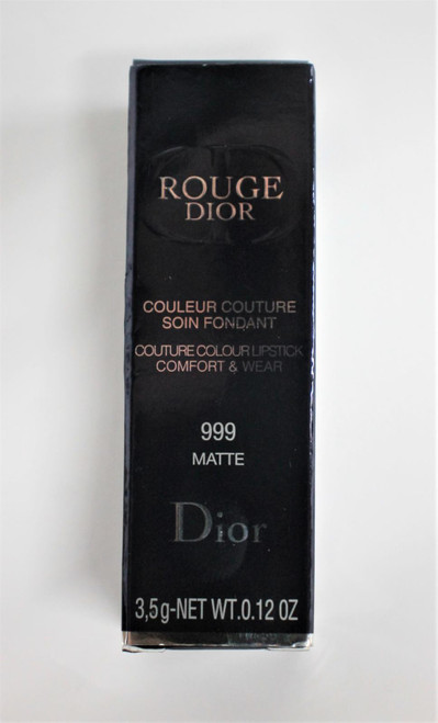 CHRISTIAN DIOR Couture Rouge Dior 999 Matte 16H Comfort Lipstick 3.5g NEW