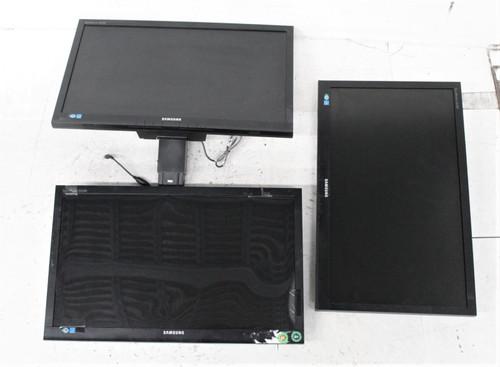 "3x SAMSUNG SyncMaster S22A200B 22"" Full HD 1080p LCD Widescreen Desktop Monitors"