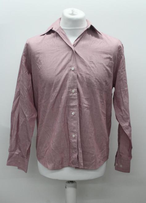 BALENCIAGA Men's Pale Pink Mauve Long Sleeve Collared Button Up Shirt UK42