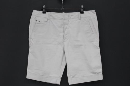 BALENCIAGA Men's Light Grey Cotton Knee Length Button Fly Chino Shorts W32 L11