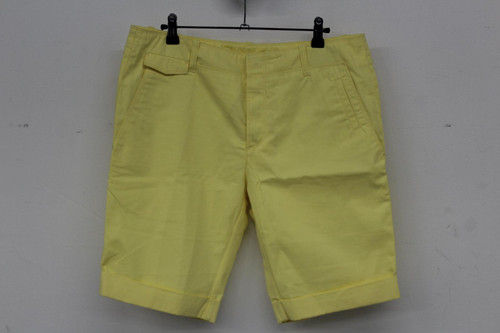 BALENCIAGA Men's Yellow Cotton Knee Length Button Fly Chino Shorts IT50/W32