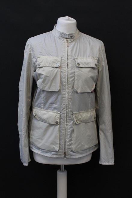BELSTAFF Silver Label Ladies Light Grey Long Sleeve Zip Up Utility Jacket UK14