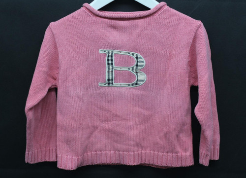 BURBERRY Girls Bright Pink Cotton Roll Neck Long Sleeve Pullover Jumper 4 Years