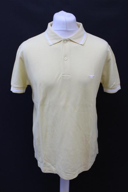 DIOR Men's Yellow Cotton Collared Neck Short Sleeve Polo Shirt Top EU50 UK40