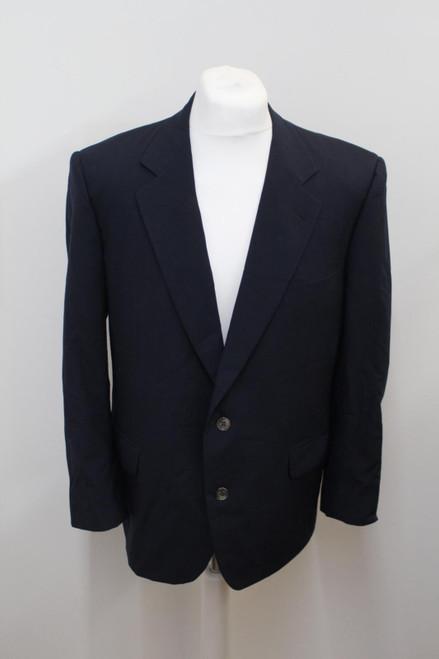 CHRISTIAN DIOR Men's Navy Blue Wool Single Breasted Suit Jacket EU52R UK42R