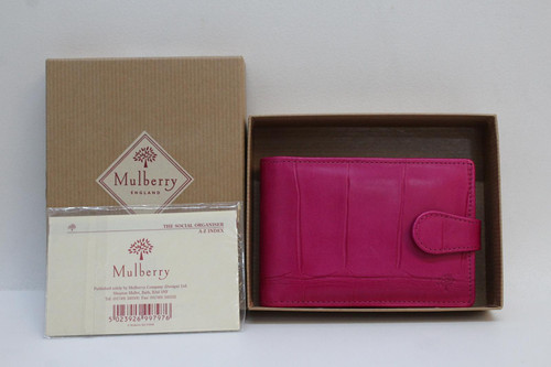 MULBERRY Ladies NY001/270-M19 Lipstick Pink Leather Pocket Social Organiser NEW