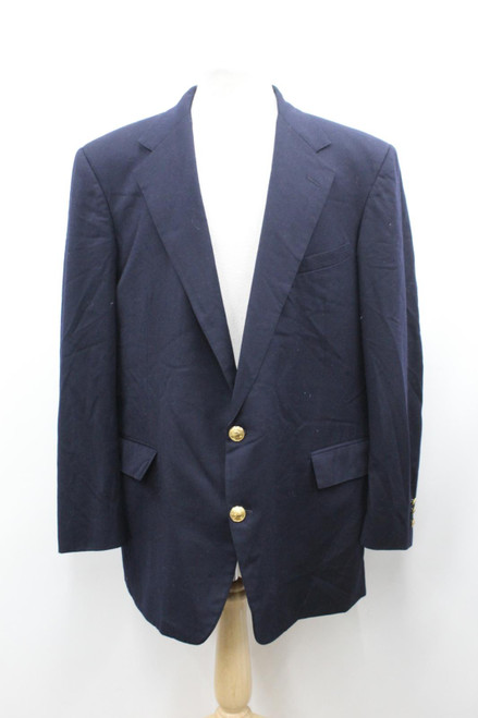 POLO BY RALPH LAUREN Men's Navy Blue Single Breasted Suit Jacket Size UK46L