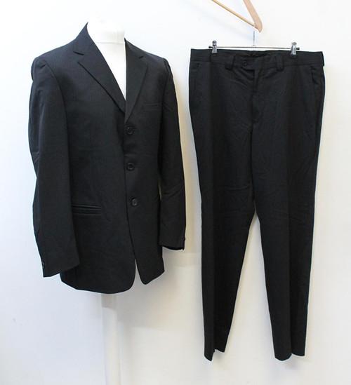 VERSACE Men's Classic V2 Black 2-Piece Wool Blend Suit IT50 UK40 W36 L31