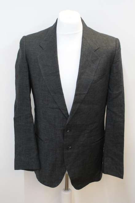 VALENTINO Men's Dark Grey Wool Single Breasted Suit Jacket Approx Size UK40