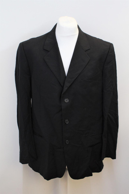 VALENTINO Men's Black Single Breasted Notch Lapel Suit Jacket Approx UK44R