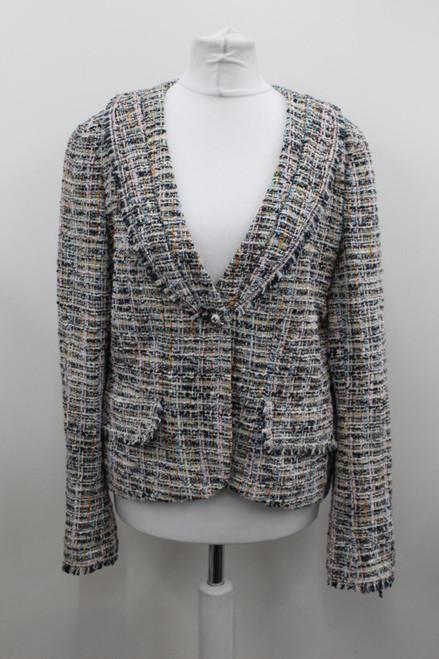 CHANEL Ladies Multi Cotton Blend Textured Boucle Tweed Jacket FR42 UK14
