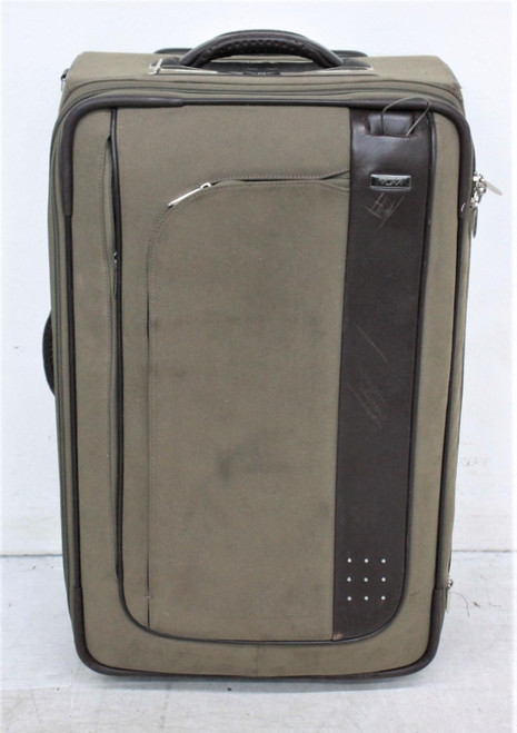 TUMI Brown Pop Out Handle Zip Closure Wheeled Travel Suitcase 58x38x26cm