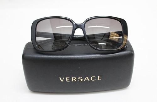 VERSACE Ladies MOD4357 GB1/11 Black & Gold Sunglasses 56-16-140 2N w Case