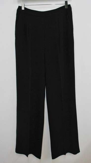 L.K.BENNETT Ladies Black High Waisted Pleated Front Tailored Trousers UK10