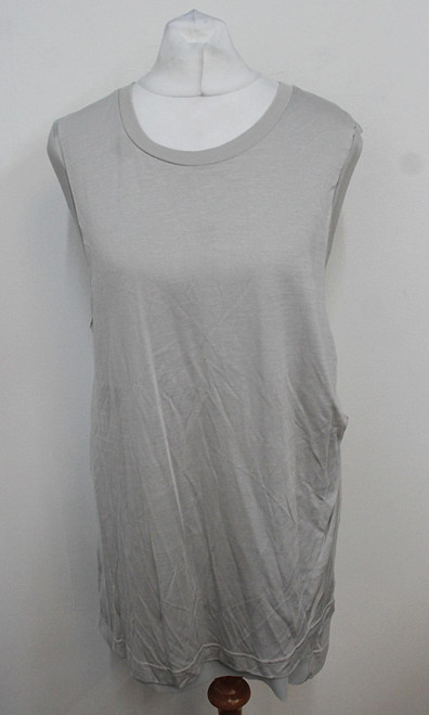 ALL SAINTS Ladies Stone Ice Grey 'Justine' Sleeveless Tank Top Size UK12 BNWT