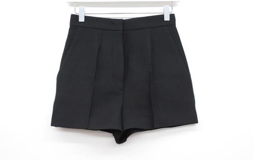 PRADA Ladies Black Wool Silk Blend High Waisted Zip Fly Shorts Size IT38 UK6