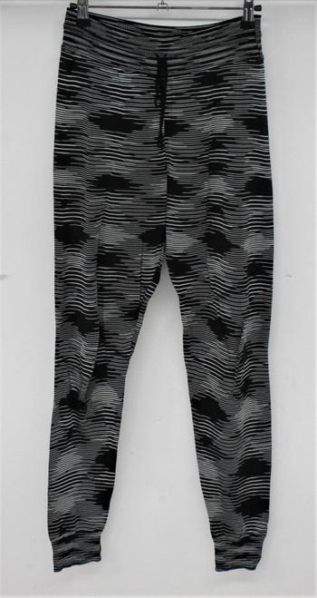 MISSONI Ladies Black & White Striped Stretch Tie Waist Leggings Trousers Size XS