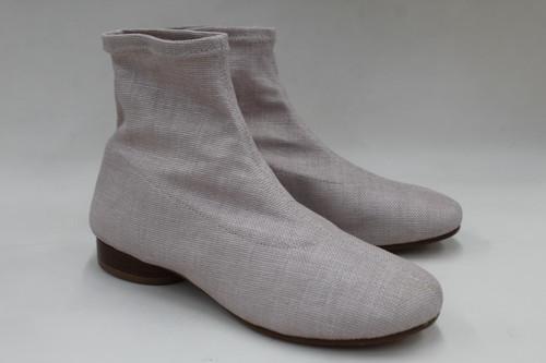 MAISON MARTIN MARGIELA Ladies Light Pink Fabric Pull-On Ankle Boots EU36 UK3 NEW