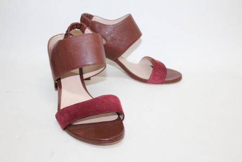 5151eab7b221 STUART WEITZMAN Ladies Red Suede Leather Strappy Sandal Shoes Heels US9.5  UK7.5