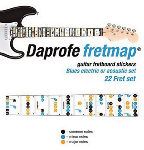 DAPROFE Fretboard Note Map Electric/Acoustic Guitar 22 Blues Note Guide Stickers
