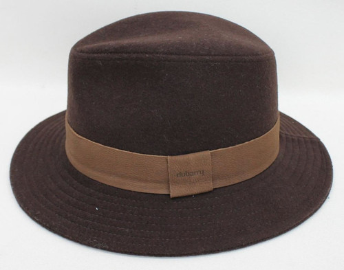 c576d92a5fb DUBARRY Ladies Bourbon Brown Rathowen Trilby Structured Felt Hat Size S  BNWT. Quick view