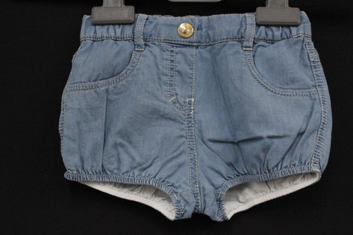 CHLOE Girls Light Blue Cotton Casual Denim Shorts With Elasticated Waist 3M BNWT