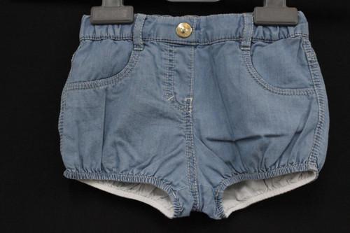 CHLOE Girls Light Blue Cotton Casual Denim Shorts With Elasticated Waist 9M BNWT