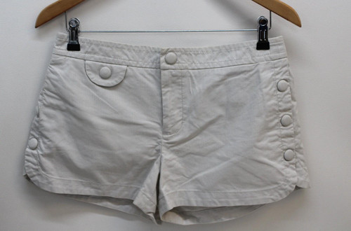 MARC BY MARC JACOBS Ladies White Cotton Blend Striped Shorts US6 UK10 W30