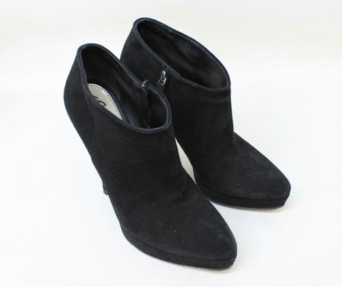 GUCCI Ladies Black Suede Stiletto Pointed Toe Platform Ankle Boots UK4.5 EU37.5