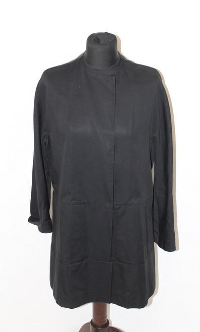 MARNI Ladies Black Cotton Blend Long Sleeve Snap Front Oversized Jacket UK6 IT38