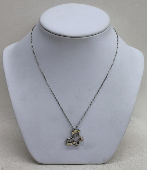 SWAROVSKI Ladies Silver Toned Butterfly w/Stars Necklace & Pendant 42cm