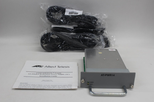 ALLIED TELESIS Converteon AT-PWR14 Redundant Power Supply For AT-CV5000 NEW