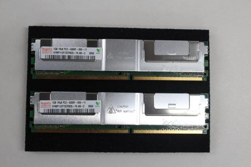 HYNIX 2gb 2 x 1gb Fbd667 PC2-5300F 555 11 D Ecc Server Memory Ram NEW