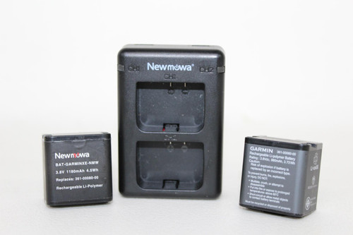 NEWMOWA Model CHG-Garminxe USB Charging Dock w/2 Batteries For Garmin Camera