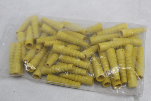 ARGOSY LF-04-006 Yellow Boot Cable Cover Rubber 45mm Protector JOB LOT 60x NEW
