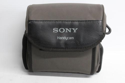 SONY Grey & Black Handycam Camera Case Storage Pouch Zip Crossbody Bag Small