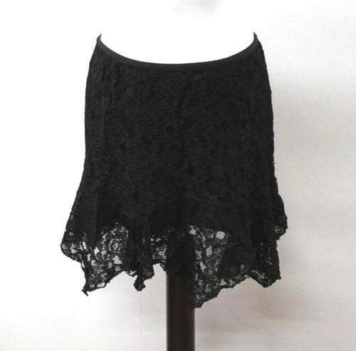DIANE VON FURSTENBERG Ladies Black Knee Length Lace A-line Skirt US8 UK12