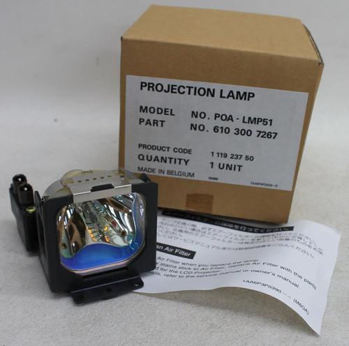 SANYO POA-LMP51 610 300 7267 Lamp w/Housing For PLC-XW20A Projectors BNIB