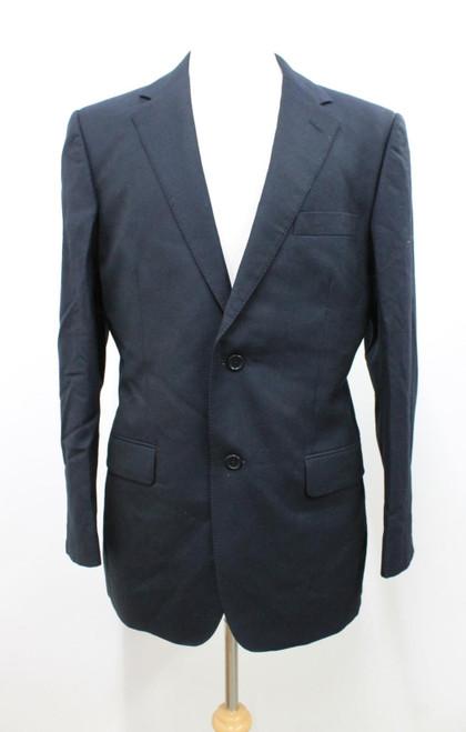 AQUASCUTUM Men's Dark Navy Blue Wool Single Breasted Notch Lapel Blazer UK40R