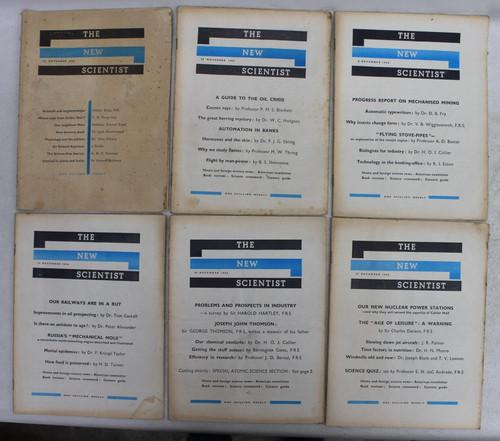 THE NEW SCIENTIST 22 November - 27 December 1956 Vintage Magazines Job Lot 6x