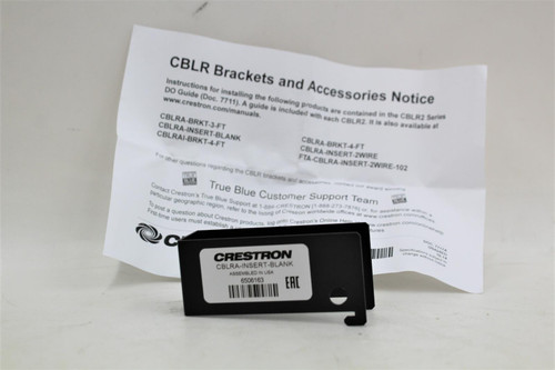 CRESTRON Blank Spacer Insert Plate For Cable Retractor Mounting Brackets NEW