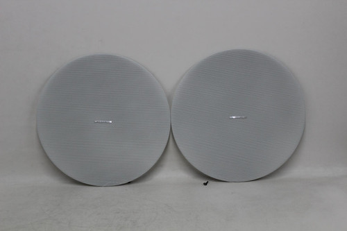2 x CRESTRON White Metal Front Grill For Saros IC8T Two-Way Ceiling Speaker NEW