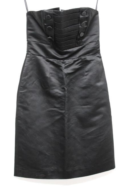MARC JACOBS Ladies Black Silk Strapless Empire Line Zipper Dress Size 2 Small