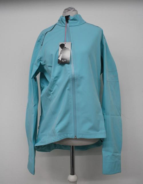 RAPHA Ladies Light Blue Classic Zip Pockets Winter Cycling Jacket Size L NEW