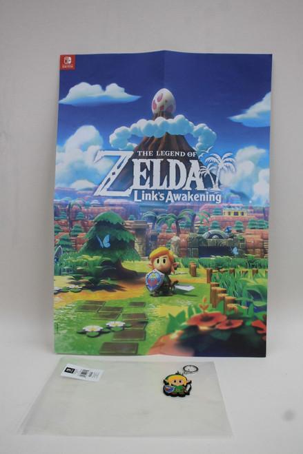 NINTENDO Legend Of Zelda Link's Awakening Merchandise Poster & Keyring NEW